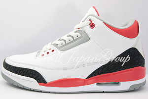 Air Jordan 3 Retro エア ジョーダン 3 レトロ(White/Fire Red/Cement Grey)