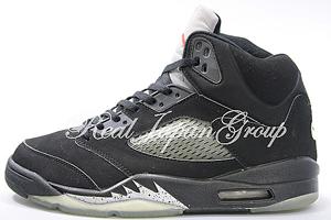 Air Jordan 5 Retro エア ジョーダン 5 レトロ(Black/Black/Metallic Silver)
