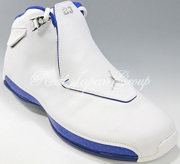 Air Jordan 18 エア ジョーダン 18(White/Metallic Silver/SP Royal)