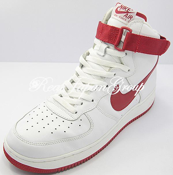 Nike Air Force 1 Hi ナイキ エア フォース ワン ハイ(White/Varsity Red)