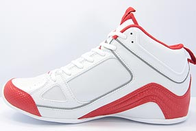 AND1 Stagger Mid アンドワン スタッガー ミッド(White/V.Red)