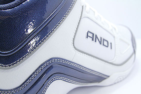 AND1 Stagger Mid アンドワン スタッガー ミッド(White/Navy/Silver)