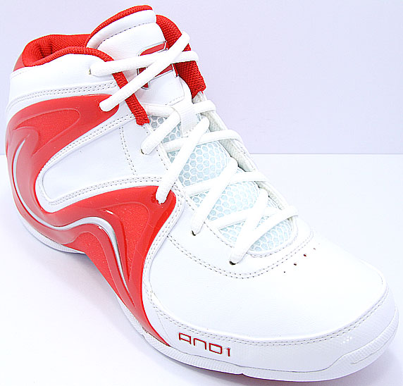 AND1 Sovereign Mid アンドワン ソブリン ミッド(White/V.Red/Silver)