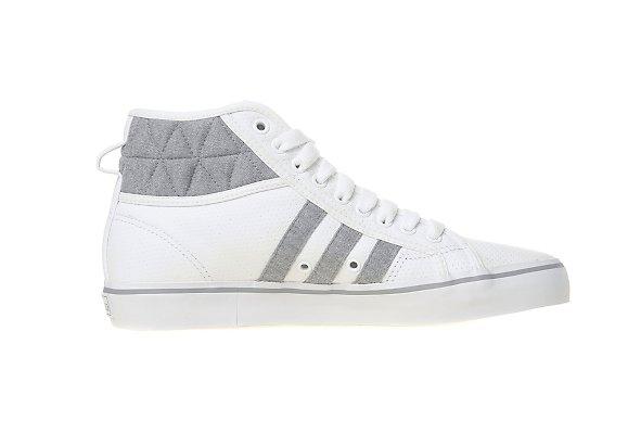 Adidas Originals Nizza Hi Quilted JD Sports アディダス オリジナルス ニッツァ ハイ キルティッド JD スポーツ別注(White/Grey Heather)