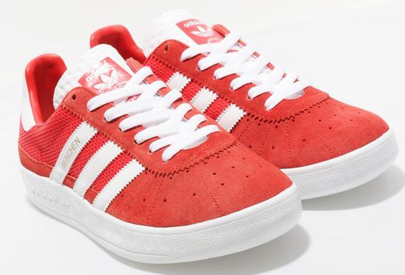 Adidas Originals Munchen size? Exclusive アディダス オリジナルス ミュンヘン size? 別注(Collegiate Red/White/Gold)