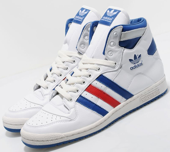 Adidas Originals Decade Hi OG Leather Only at UK アディダス オリジナルス ディケイド ミッド オリジナル レザー UK限定(White/Blue/Red)