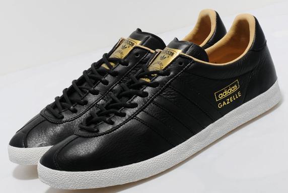 Adidas Originals Gazelle OG Leather Only at UK アディダス オリジナルス ガッツレー オリジナル レザー UK限定(Black/Black/White)