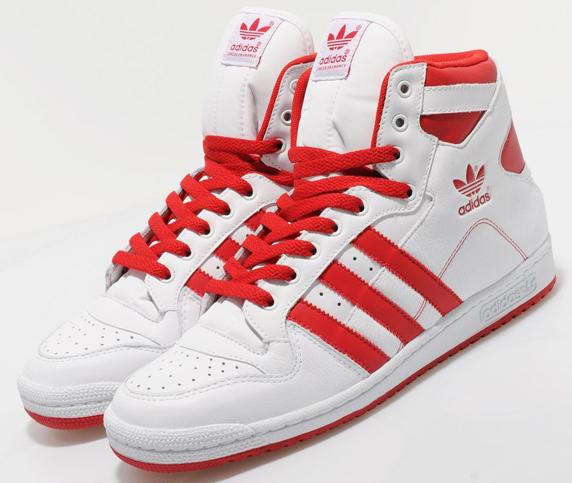 Adidas Originals Decade Hi Only at UK アディダス オリジナルス ディケイド ハイ UK限定(White/Red)